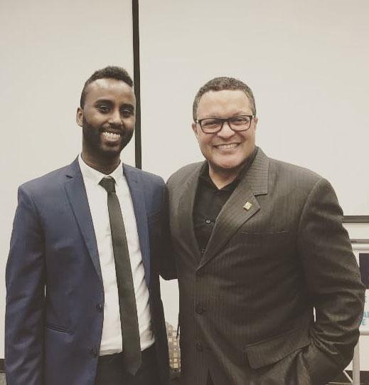 Adjunct Professor Delmar Dualeh with Kenneth B. Morris Jr