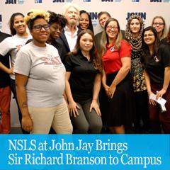 Cover image for NSLS at John Jay Brings Sir Richard Branson to Campus