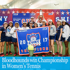 Cover image for Bloodhounds Win Championship in Women's Tennis