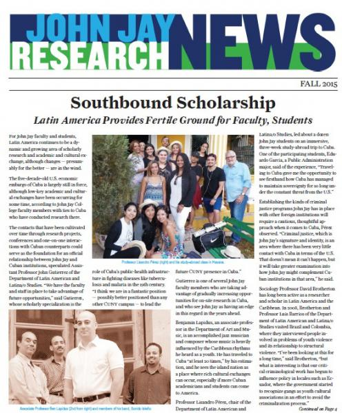 Cover of Fall 2015 issue of Research News