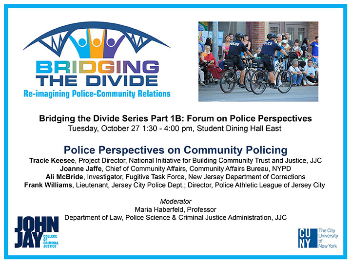 Bridging the Divide Police Perspectives on Community Policing Flyer
